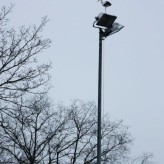 Nieuwe korfbalveld LED verlichting